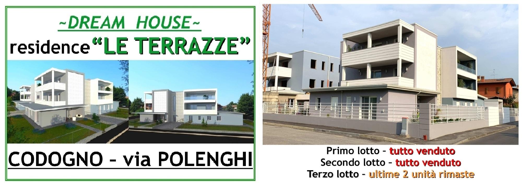 """VIA POLENGHI, CODOGNO – RESIDENCE """"LE TERRAZZE"""" – Ultime 2 unità disponibili per il lotto C"""